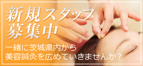 新規スタッフ募集中 一緒に茨城県内から美容鍼灸を広めていきませんか?